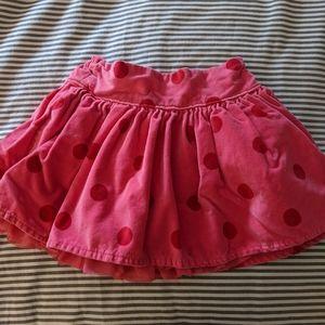 Polka dot cotton velvet skirt